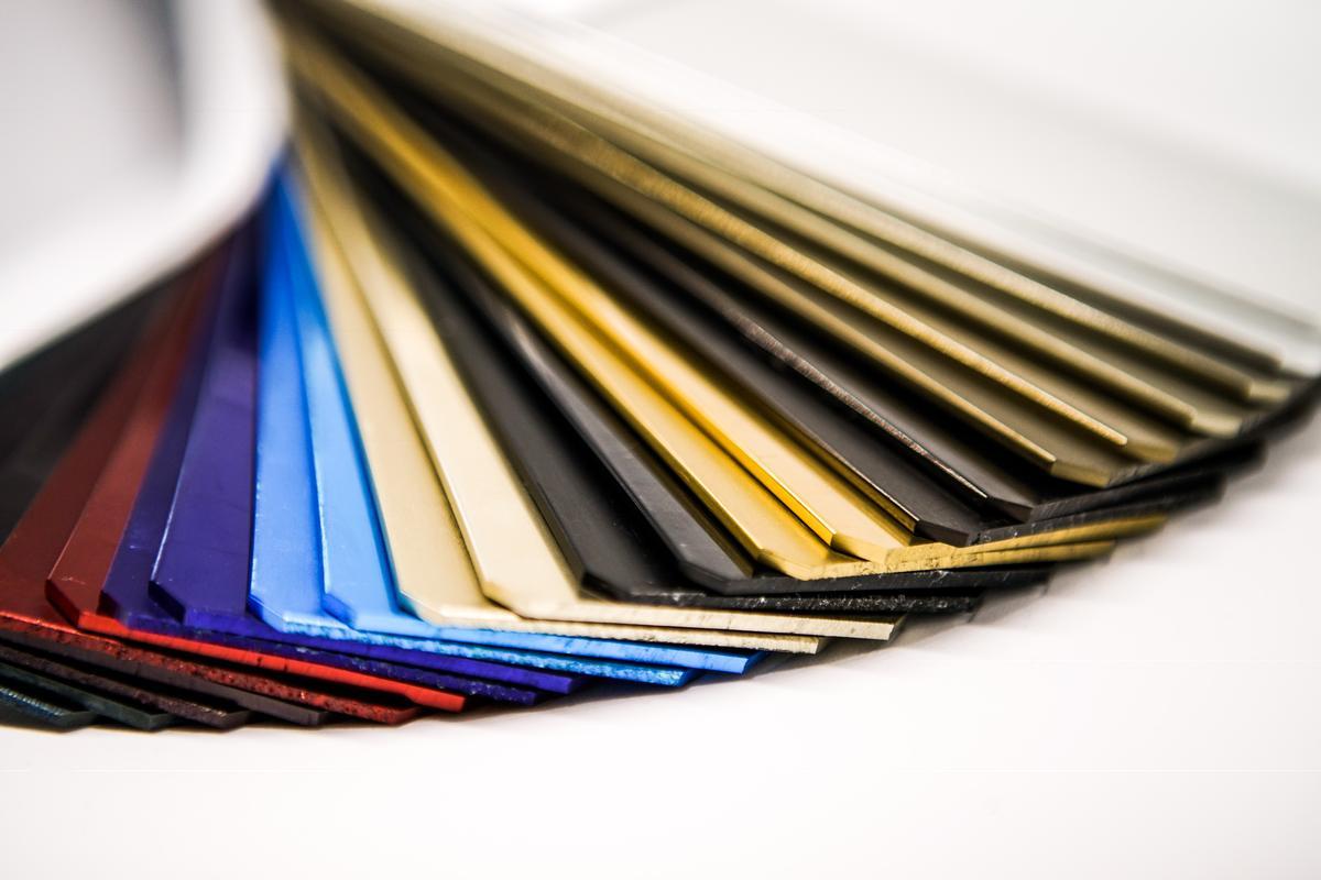 Finiture e colori di elementi in alluminio - Oxall - Ossidazione anodica di qualità - www.oxall.net